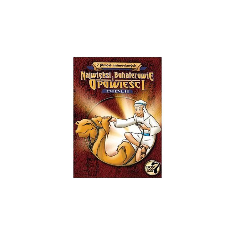 [DVD] Najwięksi bohaterowie i opowieści Biblii (komplet 7 płyt)